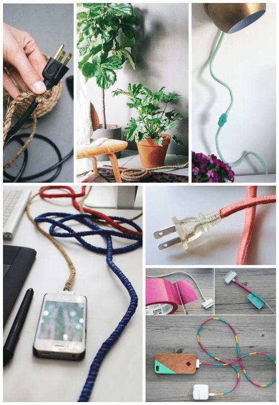 diy laine, câble électrique