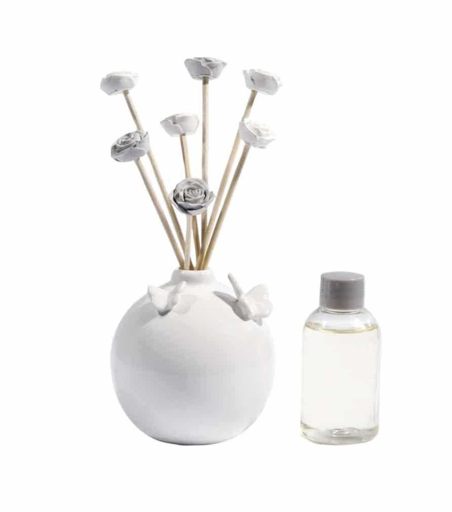 Diffuseur de parfum en céramique blanche
