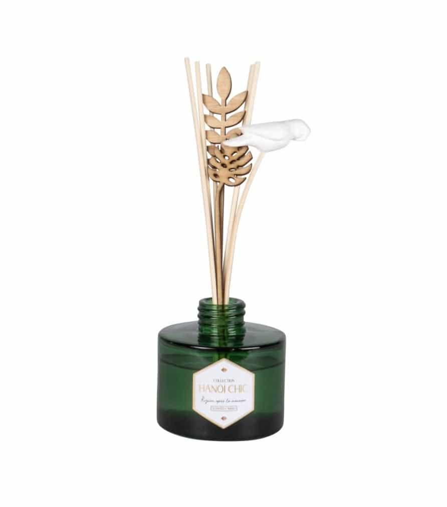 Diffuseur en verre parfum vert d'eau