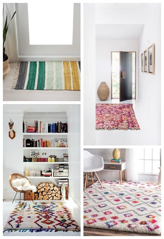 tapis colorés printemps