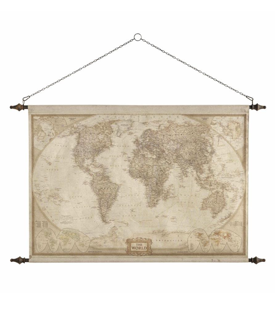 Déco murale carte du monde