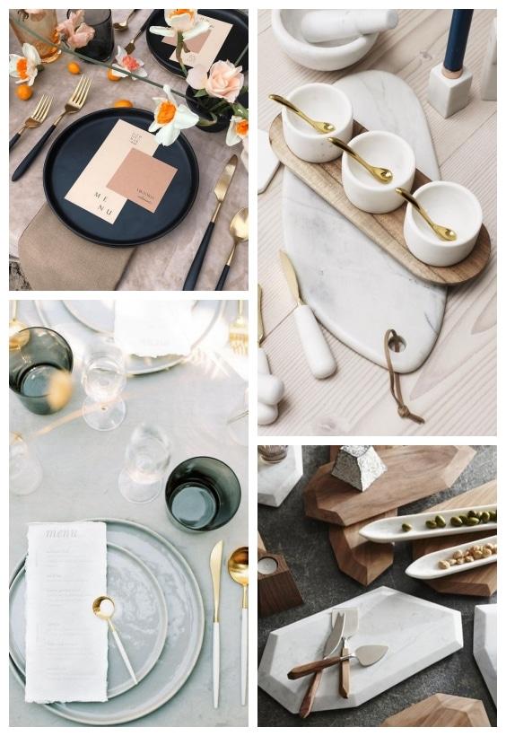 décoration de table design et épurée