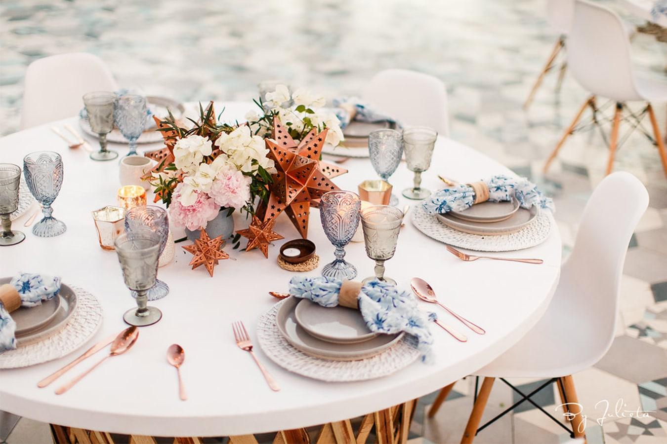 décoration de table été