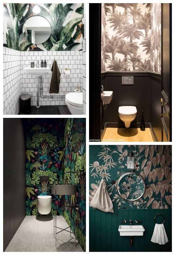 papier peint déco wc