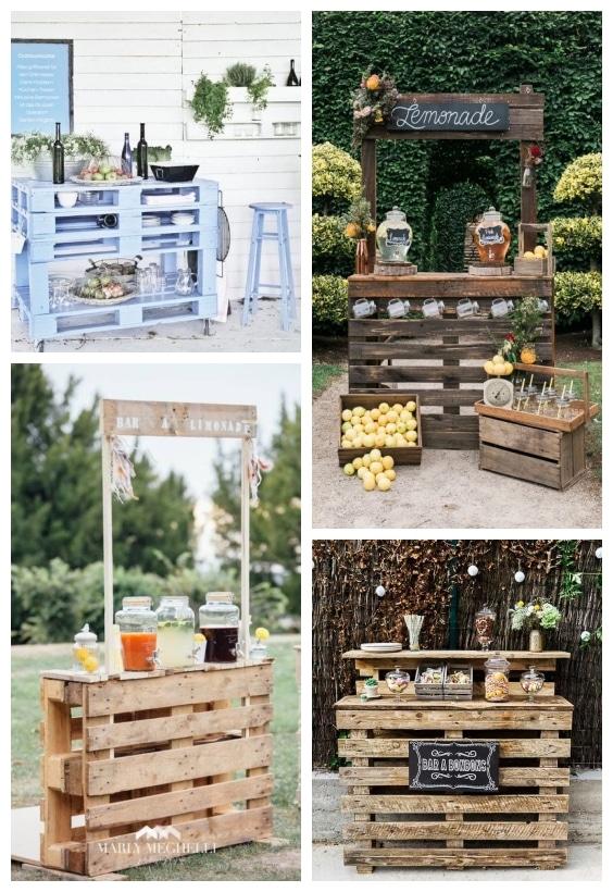 bar de jardin en palette