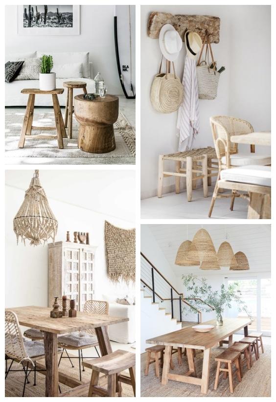 mobilier en bois décoration ethnique