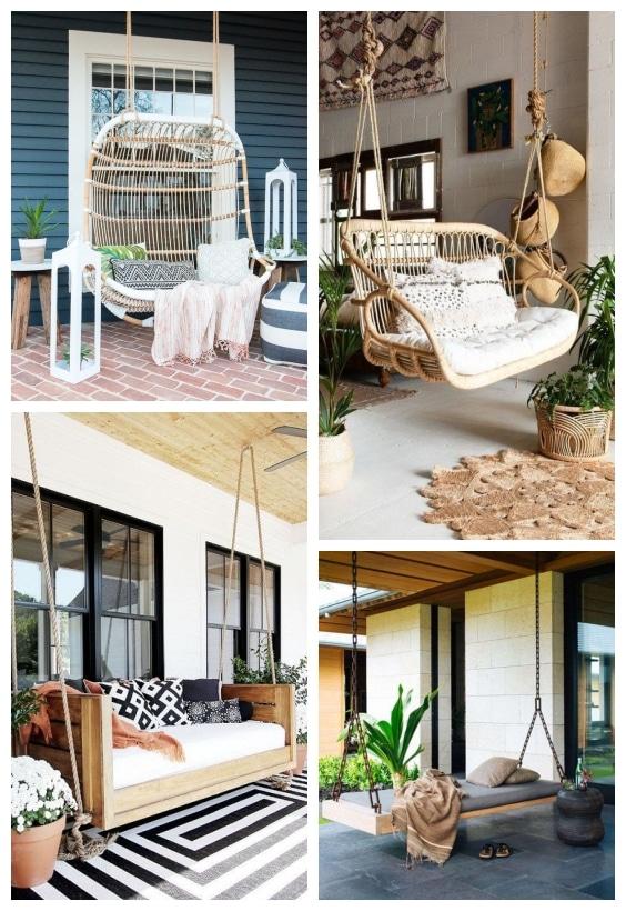 canapé suspendu terrasse