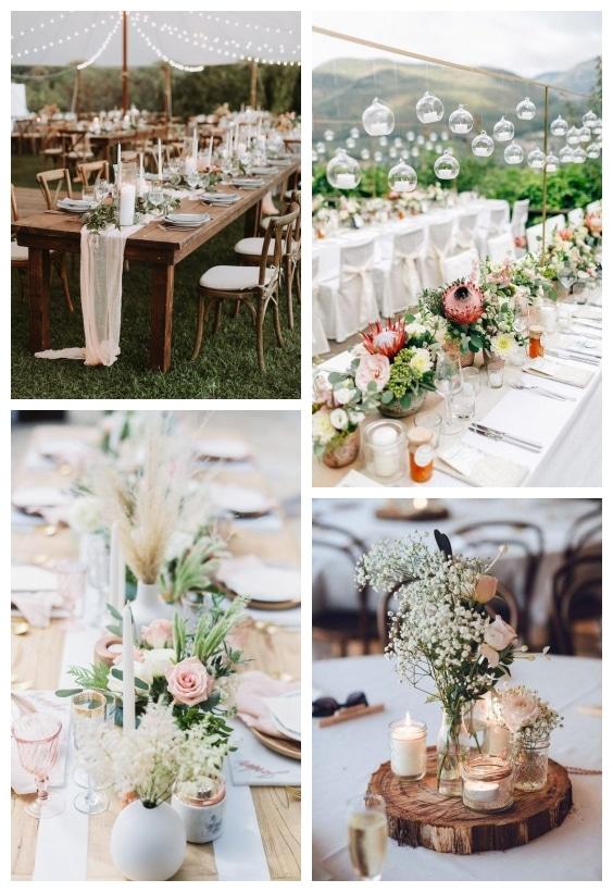décoration de table mariage bohème