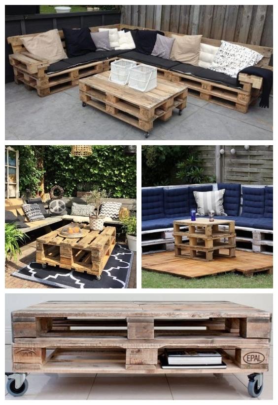 fabriquer table basse en palettes