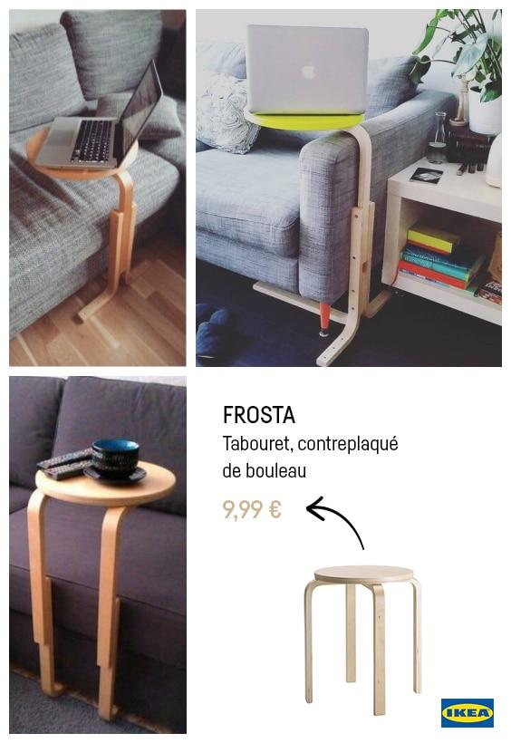 Ikea hacks frosta bout de canapé