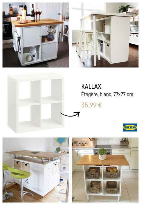 Ikea hacks illot cuisine kallax