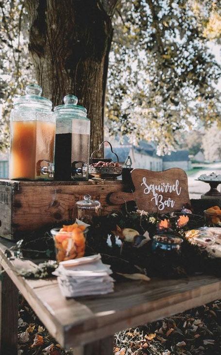 buffet mariage extérieur