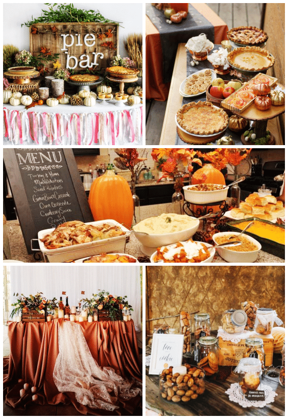buffet mariage automne