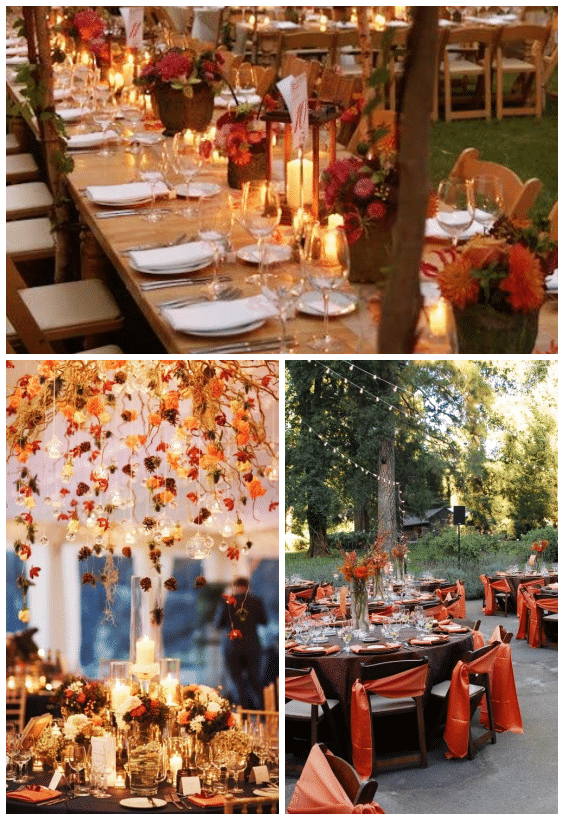 déco mariage automne