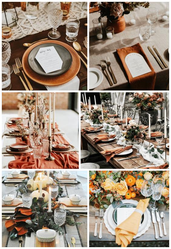 décoration de table automne
