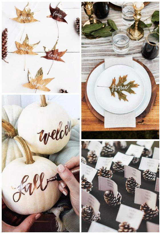 déco de table mariage d'automne