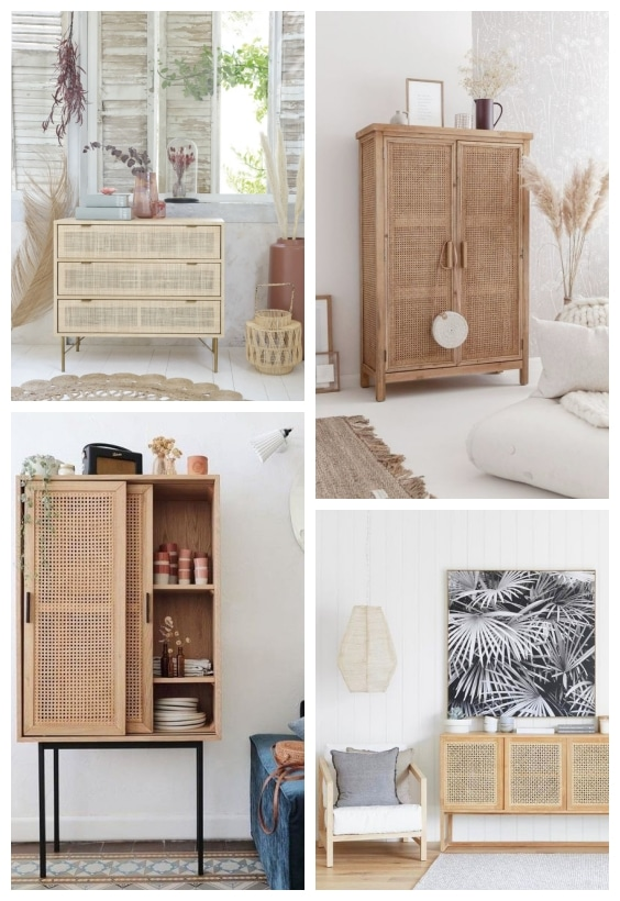 cannage mobilier