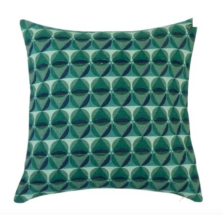 Housse de coussin en coton vert