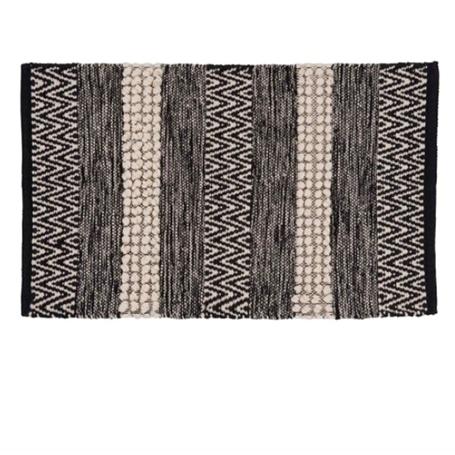 Tapis en coton motifs à rayures