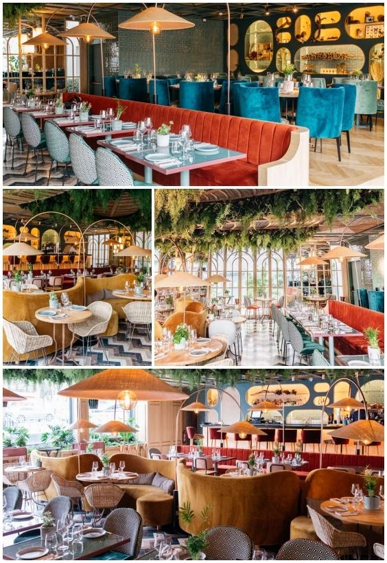 déco bar restaurant Botania Madrid