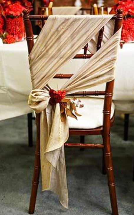 chaise décoration mariage hiver
