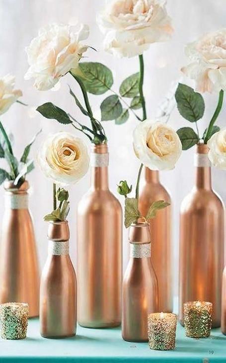 diy déco mariage vases bouteilles