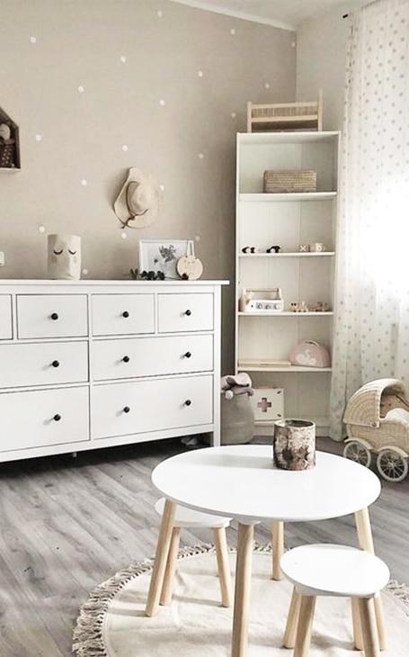 chambre bébé beige