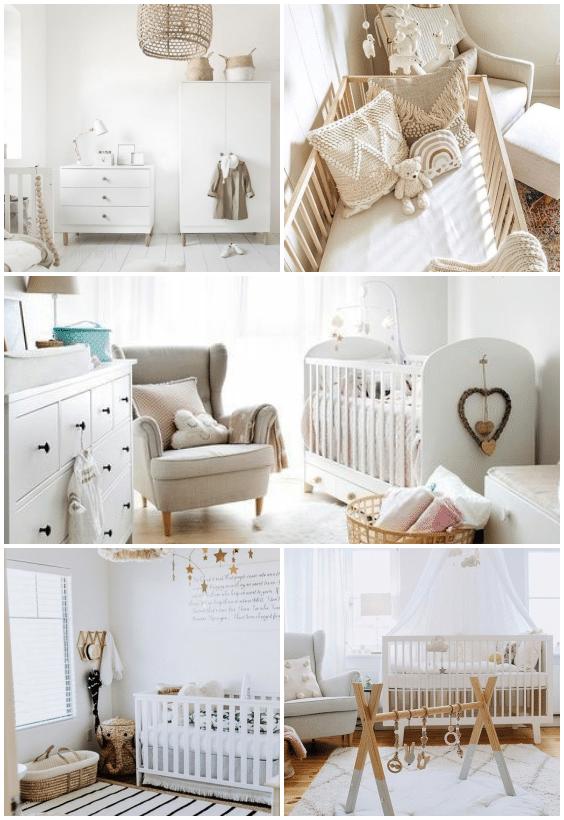 chambre bébé unisexe blanche