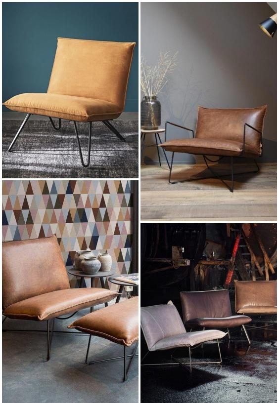 fauteuil industriel cuir
