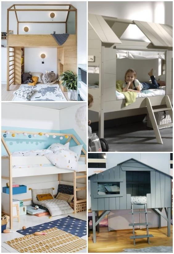 lit cabane en hauteur pour enfant