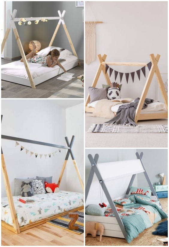 lit cabane tipi pour enfant