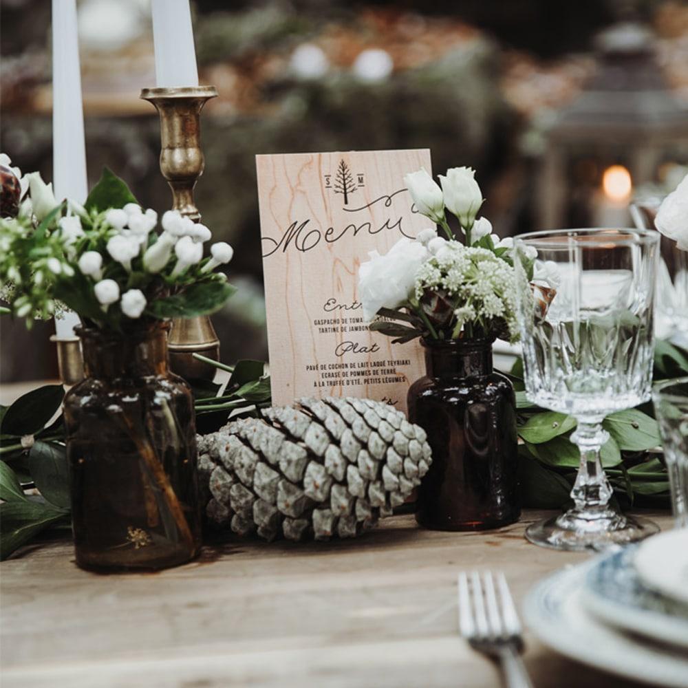 décoration mariage hiver montagne