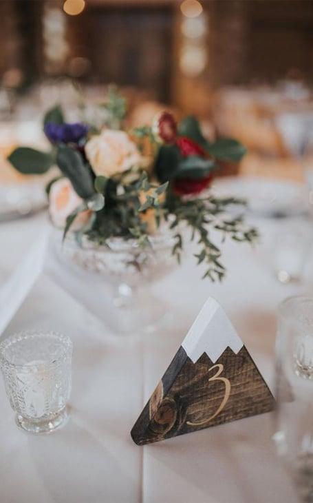 décoration table mariage hiver montagne