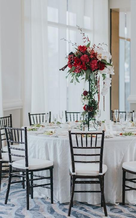 décoration mariage hiver rouge