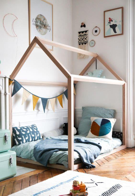 fabriquer lit cabane pour enfant