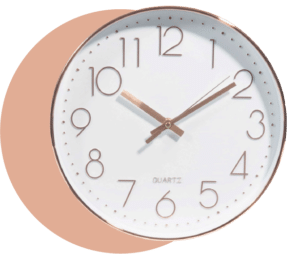 horloge déco soft mood