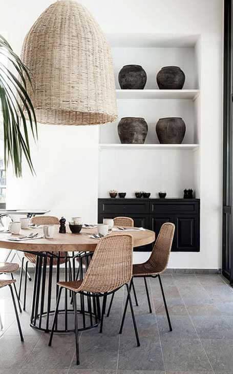 table ronde salle à manger