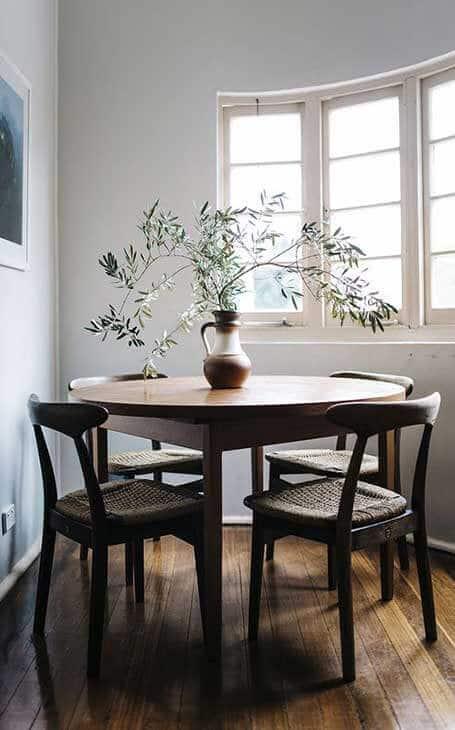 table ronde angle
