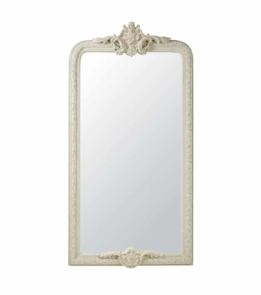 Miroir à moulures en paulownia gris