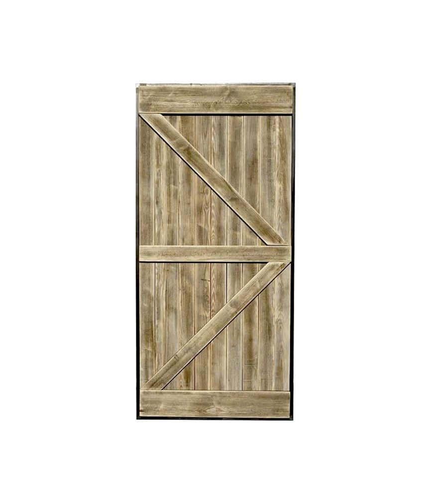 Porte coulissante en bois massif