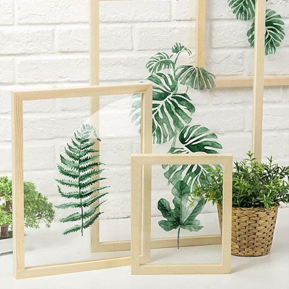 décoration herbier bois