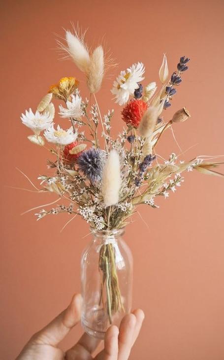vase déco fleurs séchées