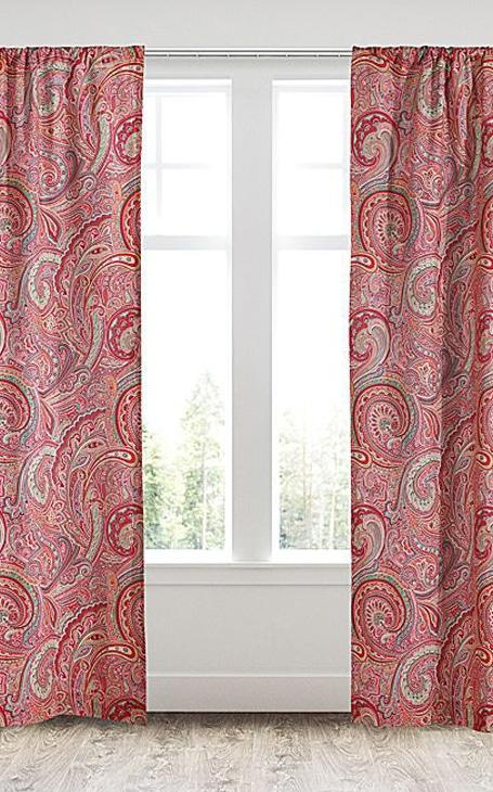 rideaux motif paisley