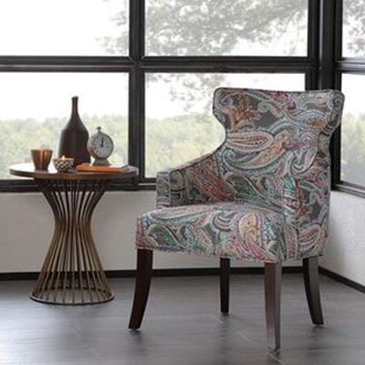 fauteuil motif cachemire