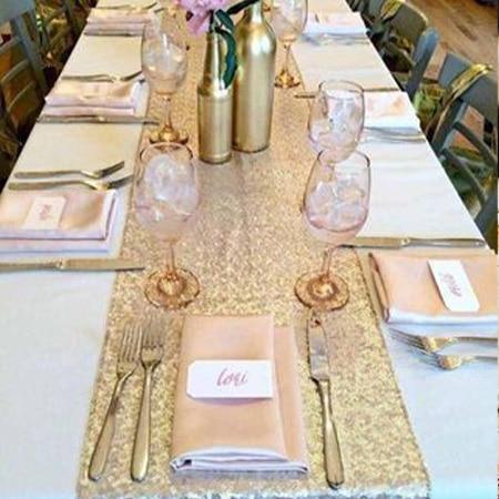 décoration table glitter