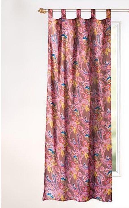 rideaux motif cachemire