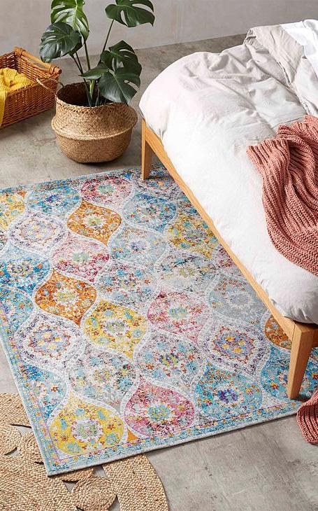 tapis cachemire coloré
