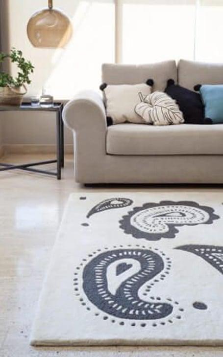 motif cachemire tapis