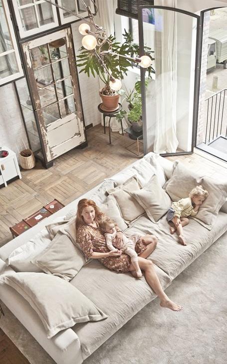 décoration salon famille