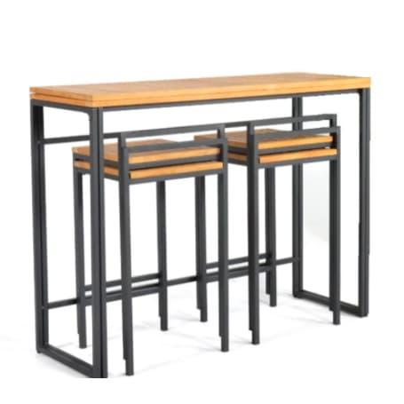 Table et chaises hautes empilables